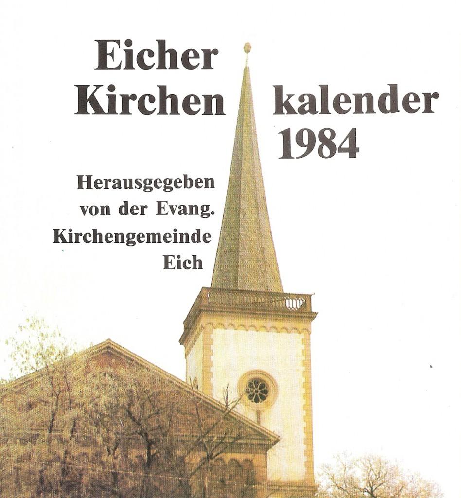 Kirchenkalender 1984