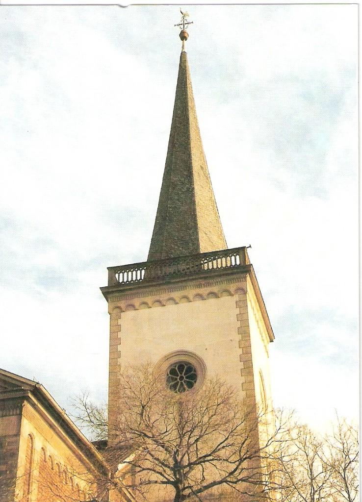 Evangelische Kirche Eich ältester Teil der Kirche: der Turm