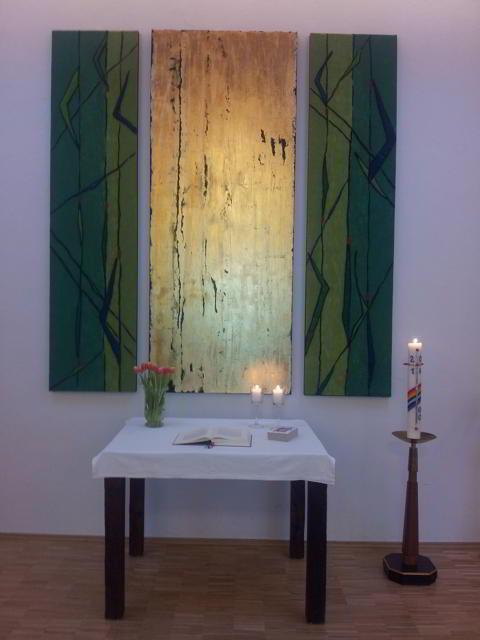 Altar im Gemeindehaus